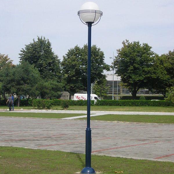 Street steel post light